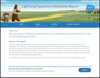 Review your Readiness Report